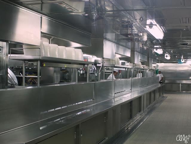 Immaculate galley kitchen on board the Princess Cruises Royal Princess ship | Anyonita-nibbles.co.uk