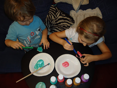 Big Boy and Top Ender painting Salt Dough Christmas Decorations