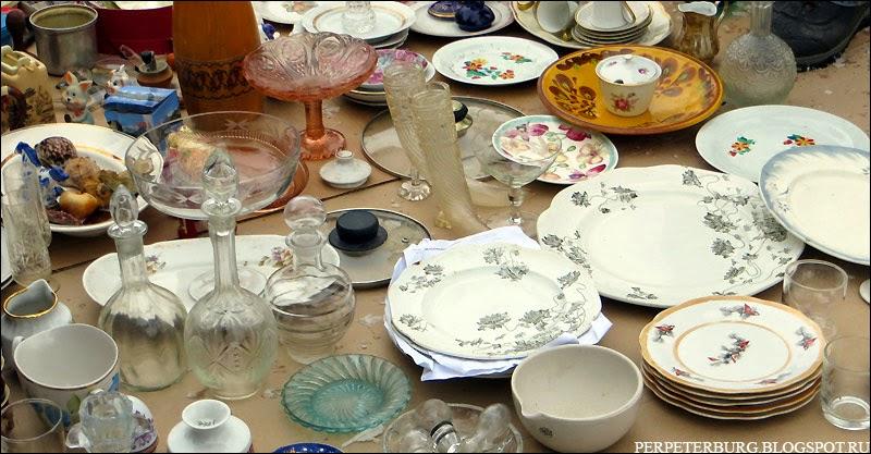 Посуда на блошином рынке в Питере фото