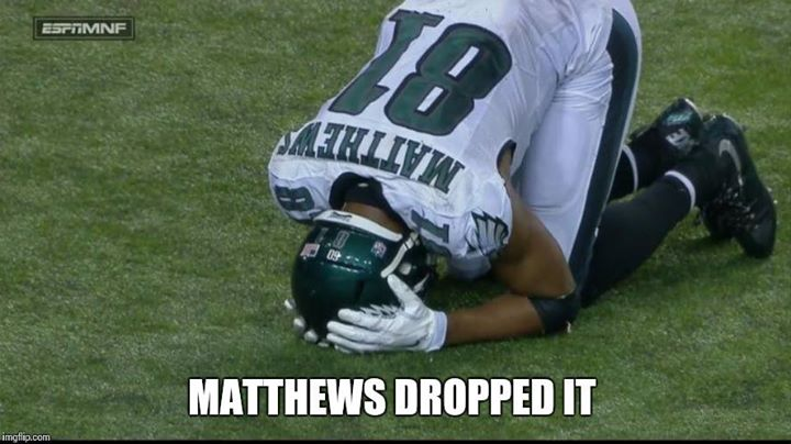 matthews dropped it