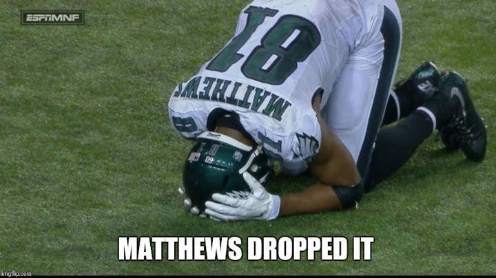 matthews dropped it