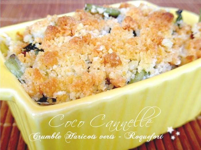 coco cannelle: le coin des recettes #9 : crumble de haricot vert