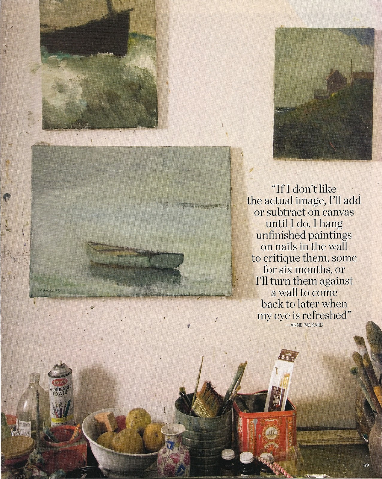 brightly the universe artist anne packard in coastal living magazine