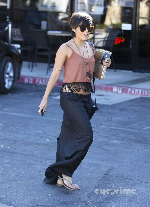 Vanessa Hudgens - Leaving Mareka Organic Food in Studio City