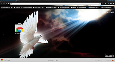 Messenger of Peace Google Chrome Theme