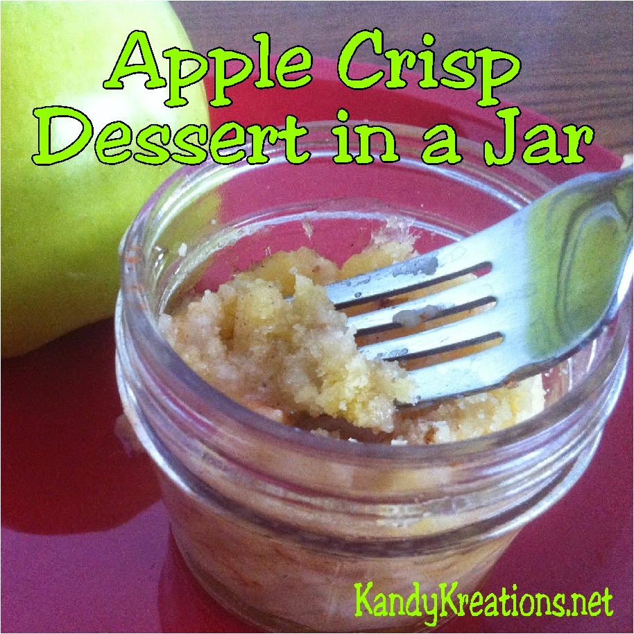 Apple Crisp is the perfect fall dessert.  Yummy, crisp apples baked with a sweet topping just screams fall treats.  This Apple Crisp recipe is all the more fun when you have the dessert in a jar for single serve treats and fall gifts.
