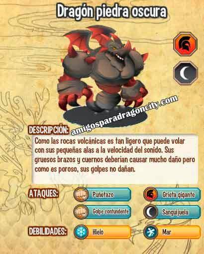 imagen de las caracteristicas del dragon piedra oscura