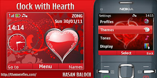 clock with hearth c3 hb Download Tema Nokia C3 Gratis