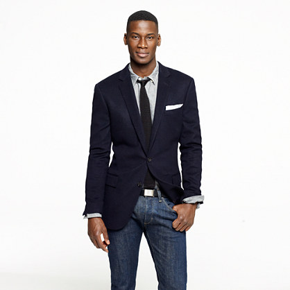APRIL SEVEN: Can You Wear A Suit Jacket On Jeans?