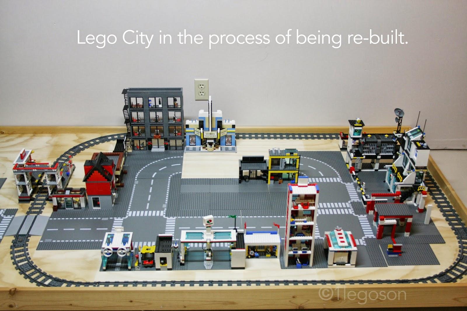 Lego City Garage : Legoson creates lego city the gas station garage and car wash