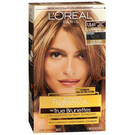 loreal paris les true brunettes ultra light ash brown