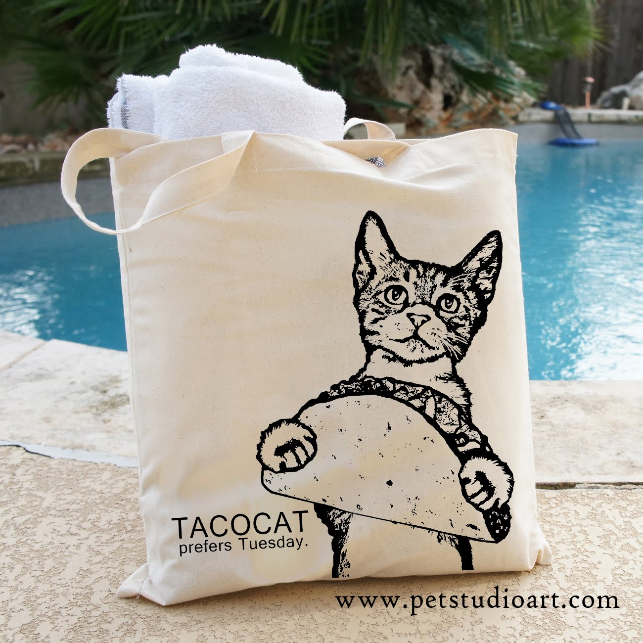 Tacocat Prefers Tuesdays Tote Bag  $15