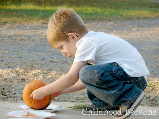paint with pumpkins, fall art, autumn activity