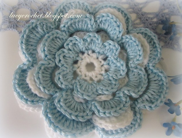 Free Crochet Pattern Large Flower : Lacy Crochet: Free Crochet Flower Patterns