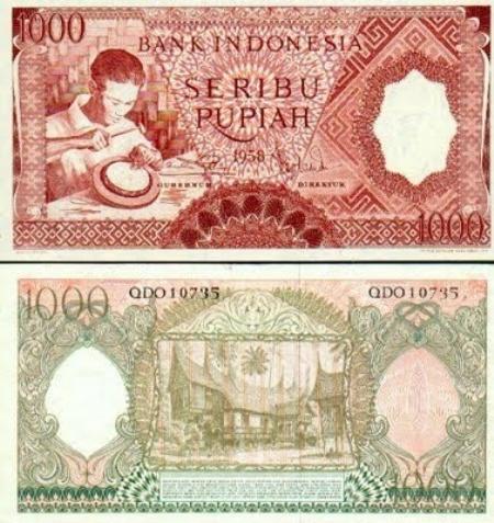 Uang Kertas 1.000 Rupiah 1958