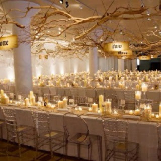 flower ideas gold wedding