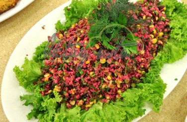 Yeşil Mor Bulgur Salatası Tarifi