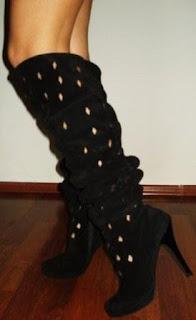 poza cu cizme negre cu toc primavara vara 2012
