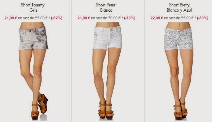 Algunos modelos de Shorts disponibles