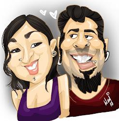 Minha esposa e Eu!!! caricatura By: Welly