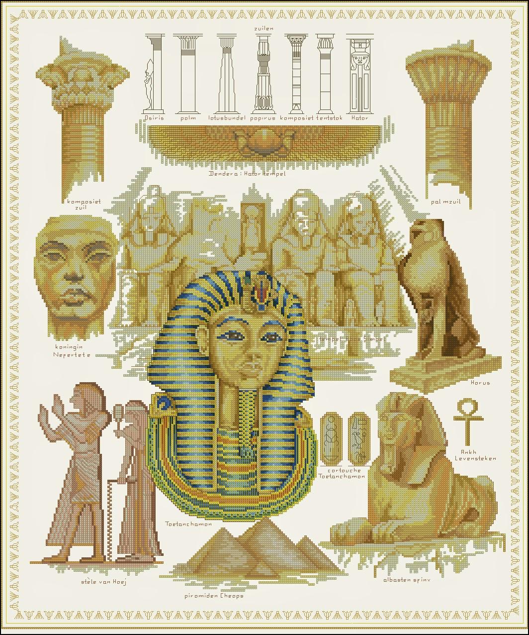 вишивка хрестом схеми безплатно єгипет акрополь