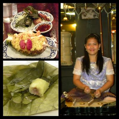 Riso e ananas, dolce al riso e ragazza thailandese