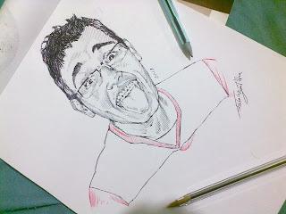 Desenho com caneta esferográfica - Rodolfo Carneiro