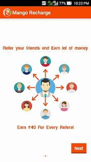 Mango recharge app refer and earn