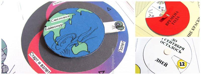 элементы лэпбука - подвижные круги