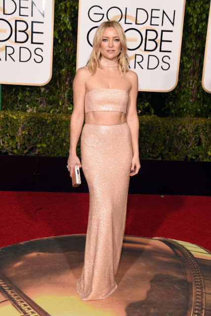 Kate Hudson Micheal Kors Collection Golden Globes 2016