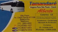 Compre sua passagem de ônibus para São Paulo. Em Catarina você fala com a Cleidivânia (Quequê)