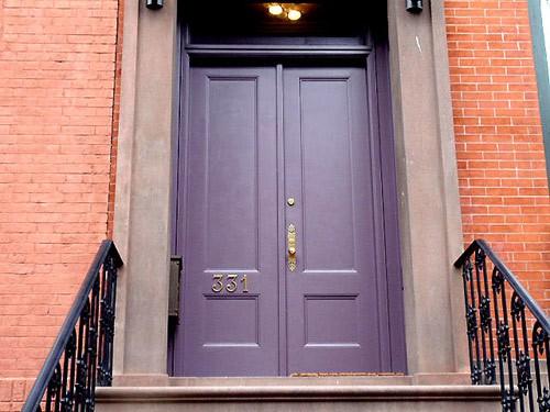 purple front door design 1 ไอเดียแต่งบ้านด้วยประตูบ้านสำหรับคนชอบสีม่วง