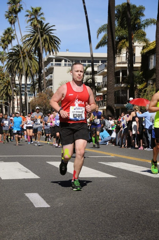 Racing for LA Marathon 2014 Finish Line