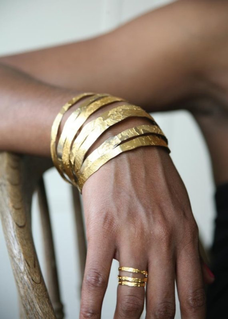 Hand Etched Gold Plated Bangles