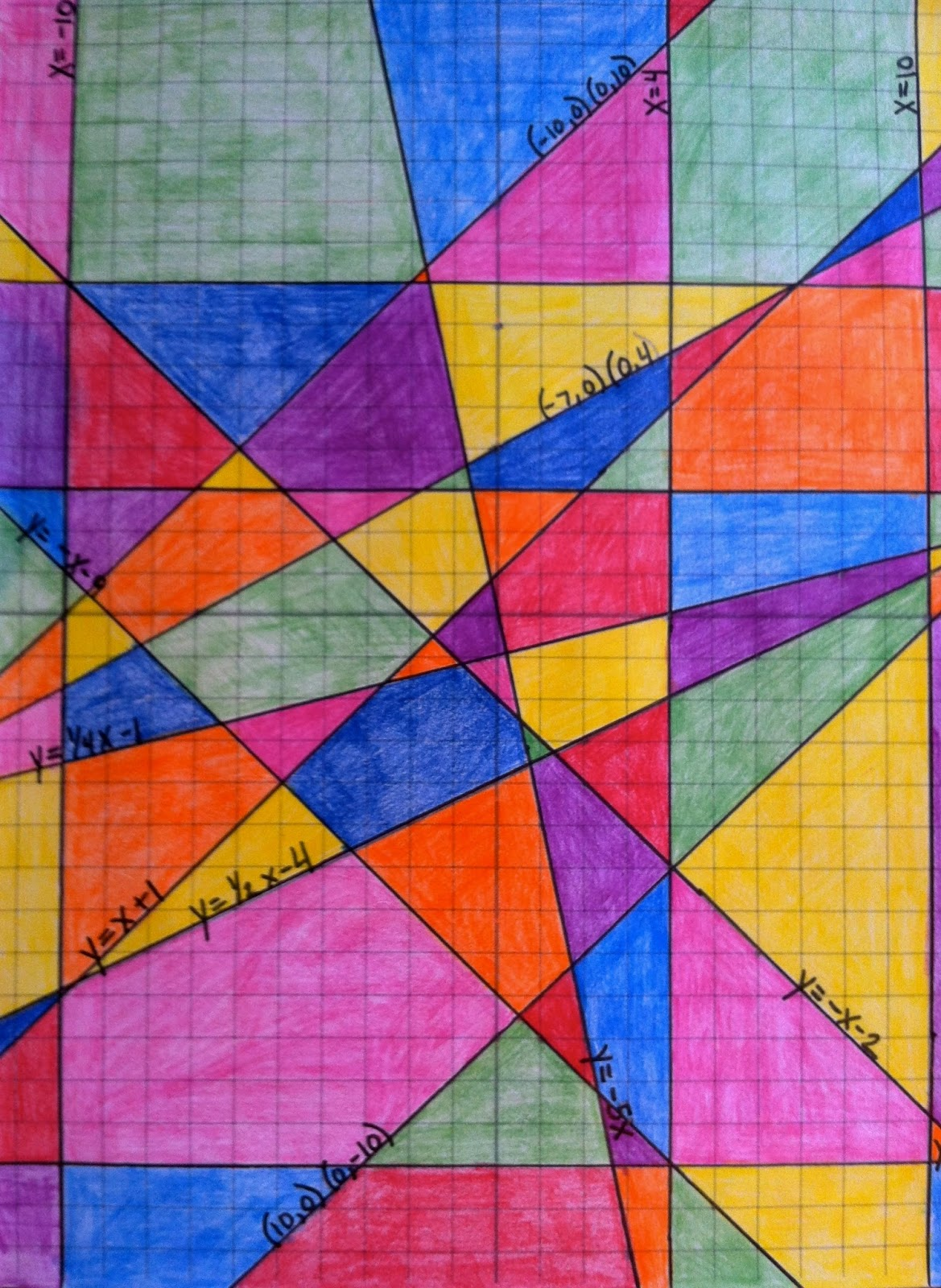 Hello Learning!: Slope- Stained Glass Window Project