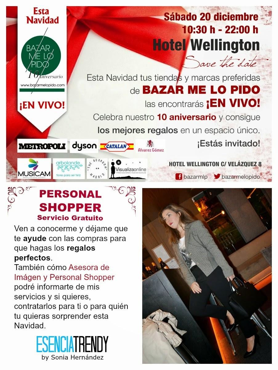 personal shopper servicio gratuito tiendas compras asesoría navidad navideñas mercado mercadillo Madrid Hotel Wellington sabado 20 diciembre