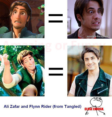 Flynn Rider, Ali Zafar, Close Enough, Tangled, Resemble, Looks, Look alike, Similar, Same