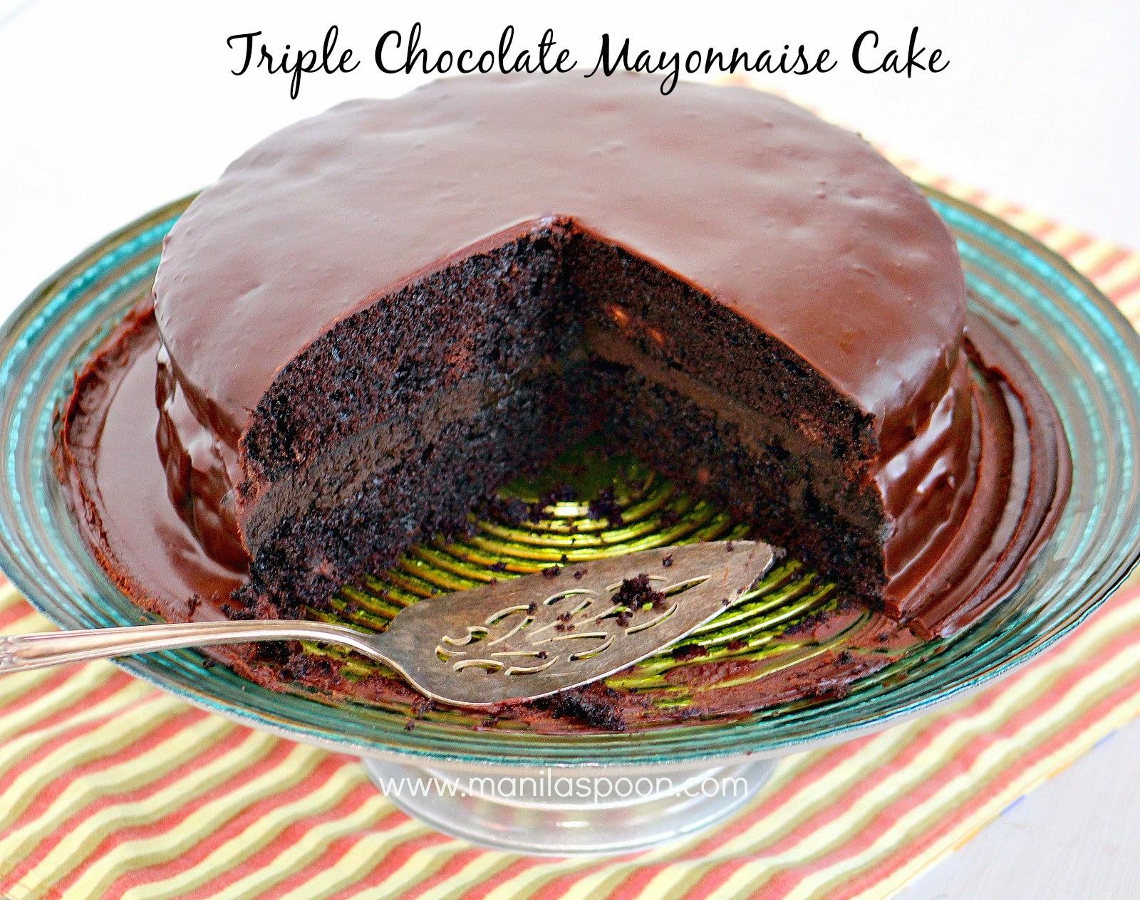 Triple Chocolate Mayonnaise Cake | Manila Spoon
