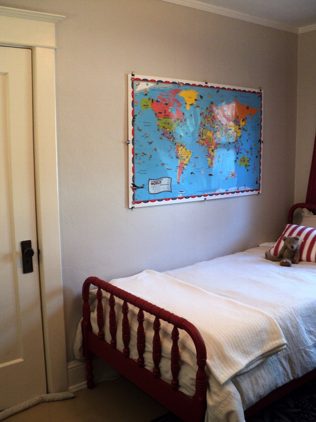 World Map Wall Art | Living in the Rain Garden