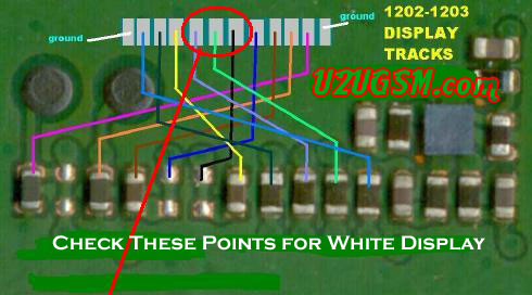 display in nokia 1202 then try this diagram to solve white display