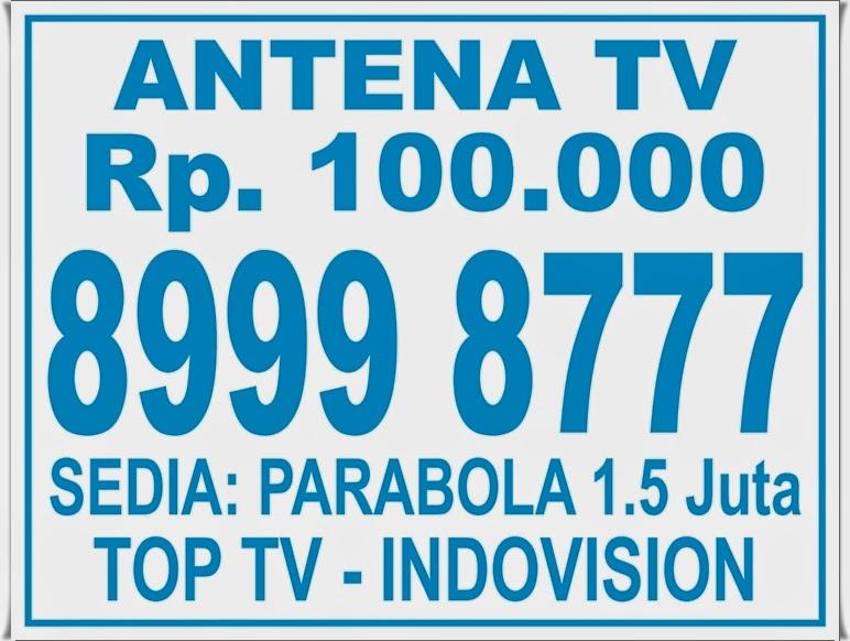 Poster Brosur Pasang Antena TV
