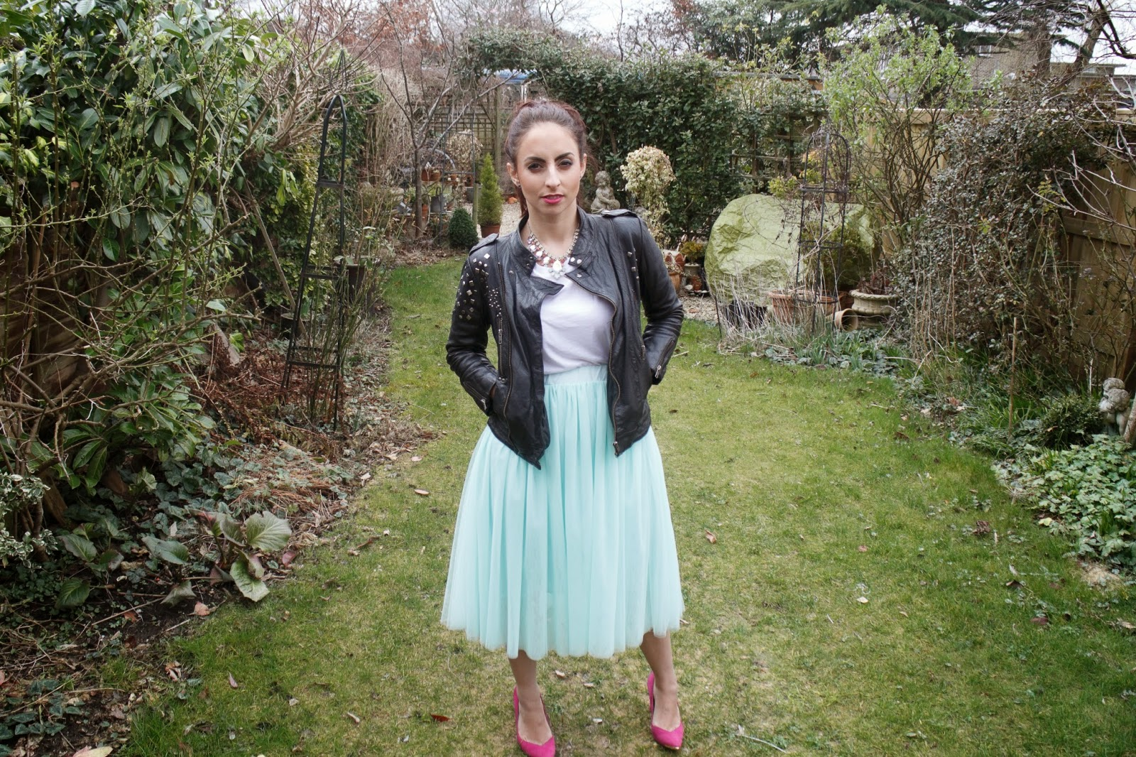 maternity style, disney princess, tulle skirt, ebay fashion, ootd, street style, leather, how to wear tuille, asos,