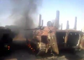 الجيش الحر يفجر دبابات الاسد في دير الزور 11-6-2012