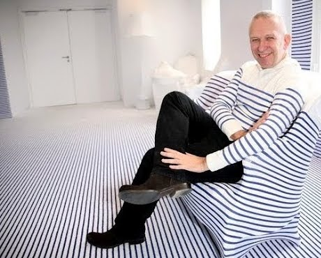 Gaultier at Elle Deco Suite with stripes