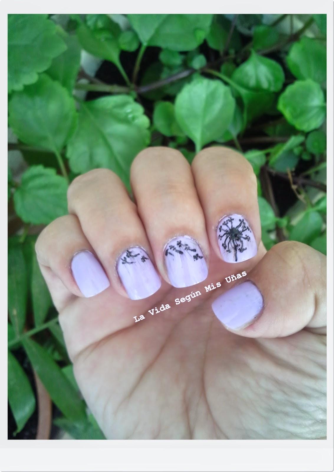 La Vida Según Mis Uñas: Reto colores y texturas: lila perla
