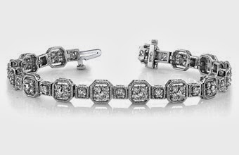 Vintage Quad Square Diamond Bracelet