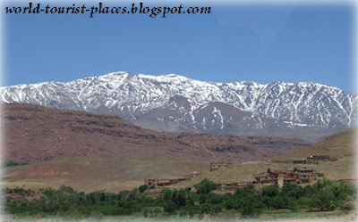 snow on atlas mountain