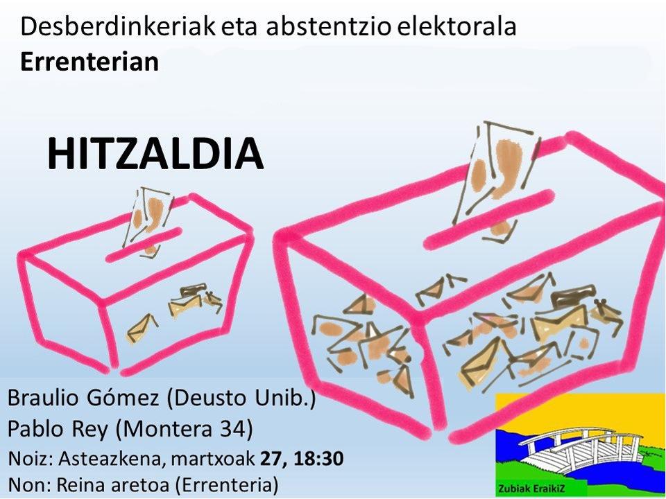 """Conferencia: """"Desigualdad y abstención electoral en Errenteria"""""""