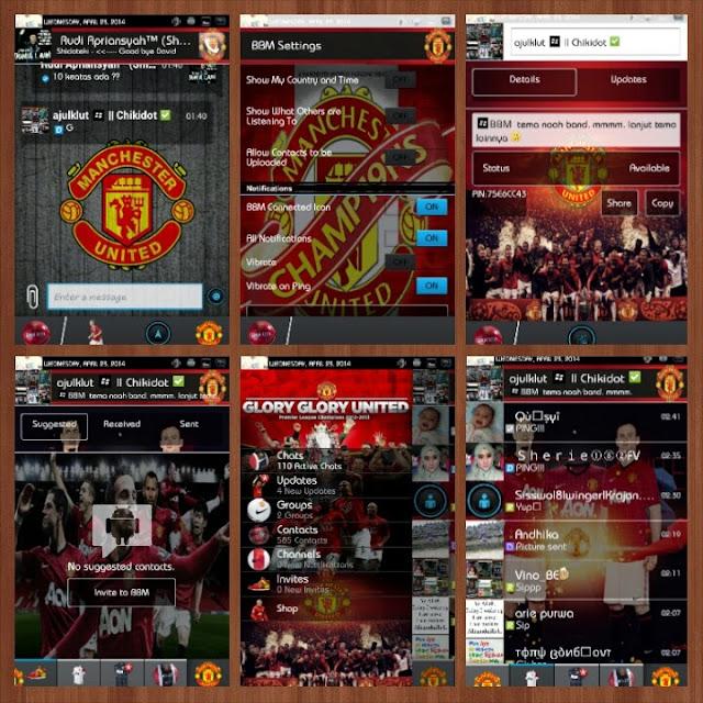 BBM Mod Manchester United Versi 2.1.1.53 APK Untuk Android