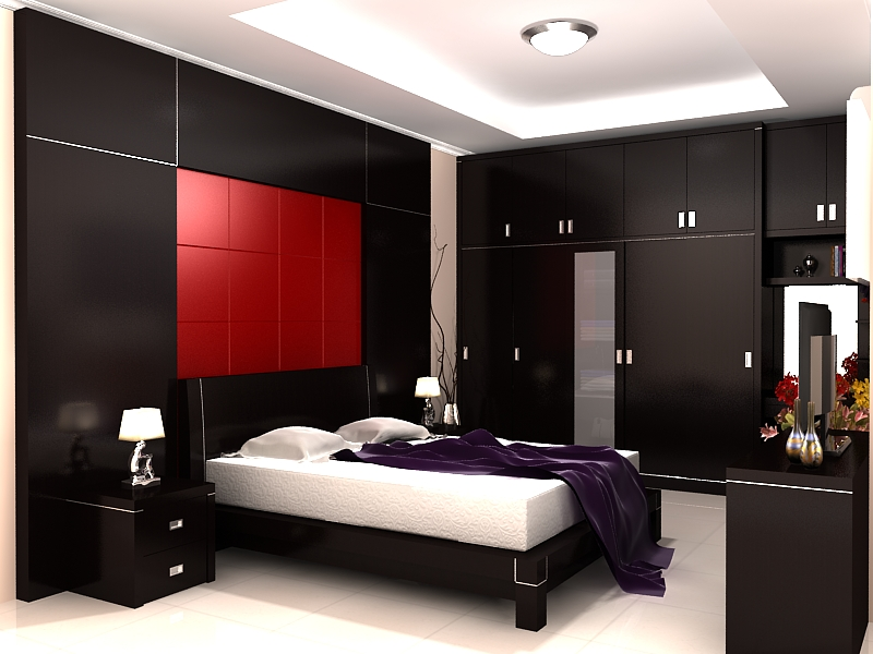 Gambar desain interior kamar tidur utama Minimalis dan Mewah